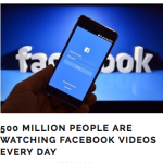 50 million people facebook videos every day