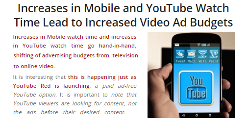 Increases in YouTube and Mobile Watch Time Lead to Increased Video