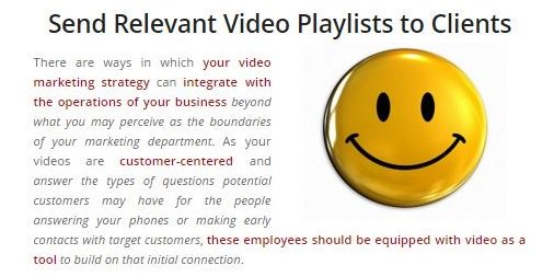 sendrelevantvideoplayliststocustomers